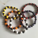 Unisex Checker Style Stretchy Beaded Bracelet: Choose From Drop Down Menu (Emo / Goth / Punk)