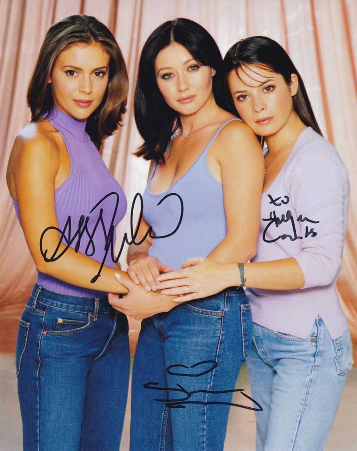 Charmed Cast X 3 Autographed Photo (Holly Marie Combs, Alyssa Milano & Rose McGowan)