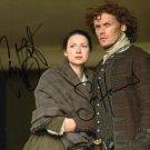 Caitronia Balfe  & Sam Heughan 8 x 10 Autographed Photo Outlander (Reprint 688 Great Gift Idea!)