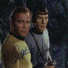 Leonardo Nimoy & William Shatner 8 x 10 Autographed Photo Star Trek  (Reprint 690 Great Gift Idea!)