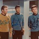 Star Treek Cast x 3 Kelly, Shatner & Nimoy 8 x 10 Autographed Photo. (Reprint 694 Great Gift Idea!)