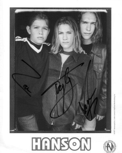 Hanson 8 x 10 Autographed Group Photo Isaac, Taylor & Zac Hanson (Reprint 704 Great Gift Idea)