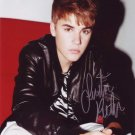 Justin Bieber 8 x 10 Autographed Photo Where Are You Now? U Smile (Reprint 710 Great Gift Idea!)