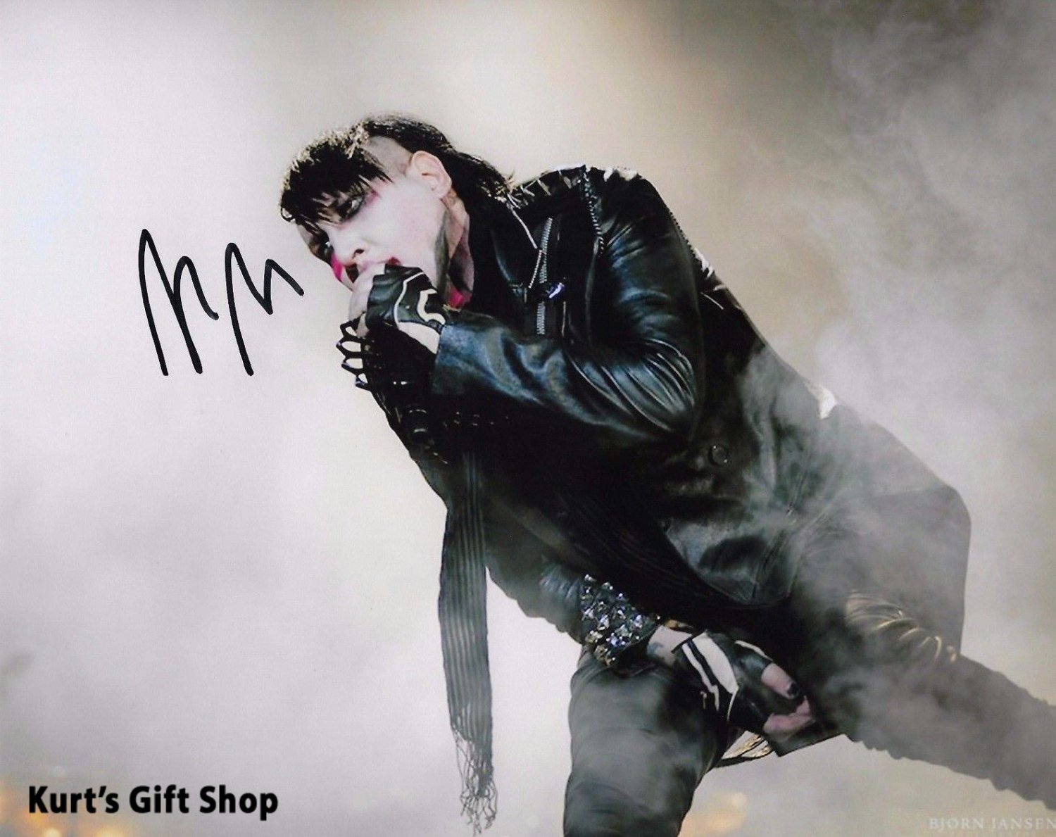 Marilyn Manson Awesome 8 x 10 Autographed / Signed Photo (Reprint 744 Great Gift Idea!)