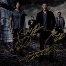 Supernatural Cast X 4 Autographed Photo Jensen, Jared, Misha & Mark (Reprint 820 Great Gift Idea!)