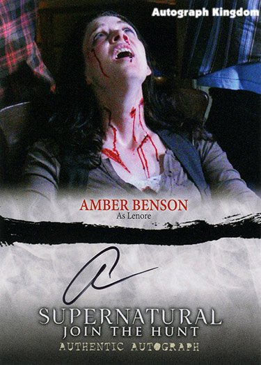 Supernatural S1 Amber Benson Autographed Card (Reprint 872 Perfect gift Idea)