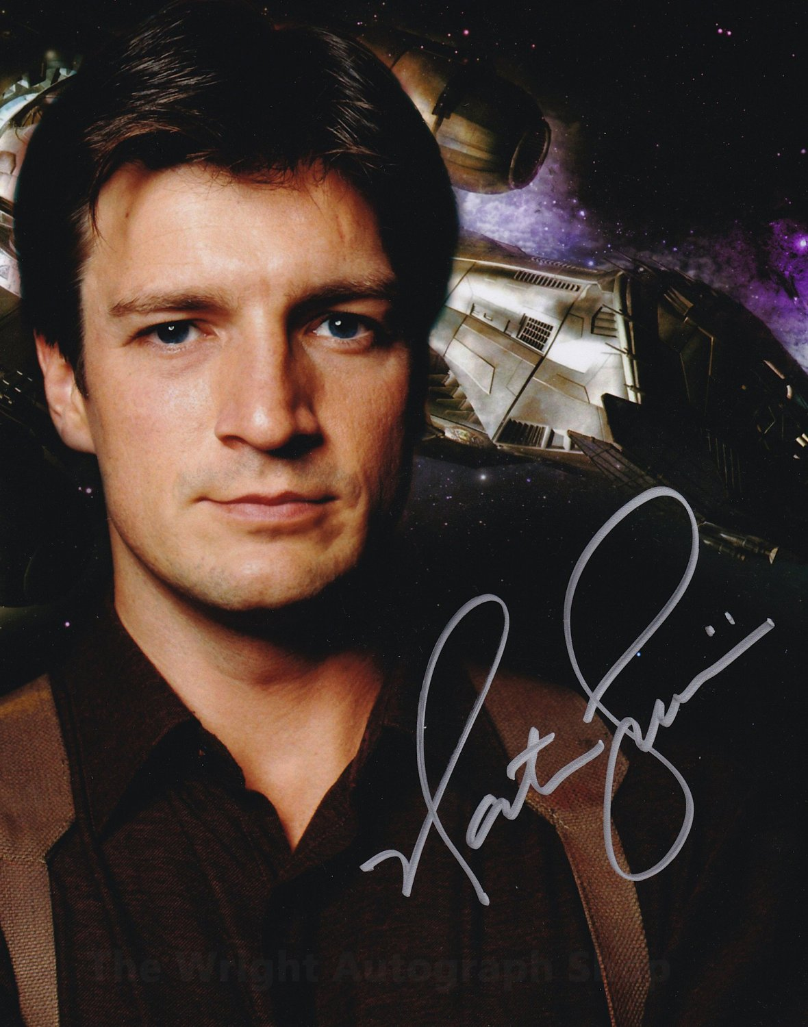 """Nathan Fillion 8 x 10"""" Autographed Photo Castle, Firefly, Buffy The Vampire Slayer (Reprint 825)"""