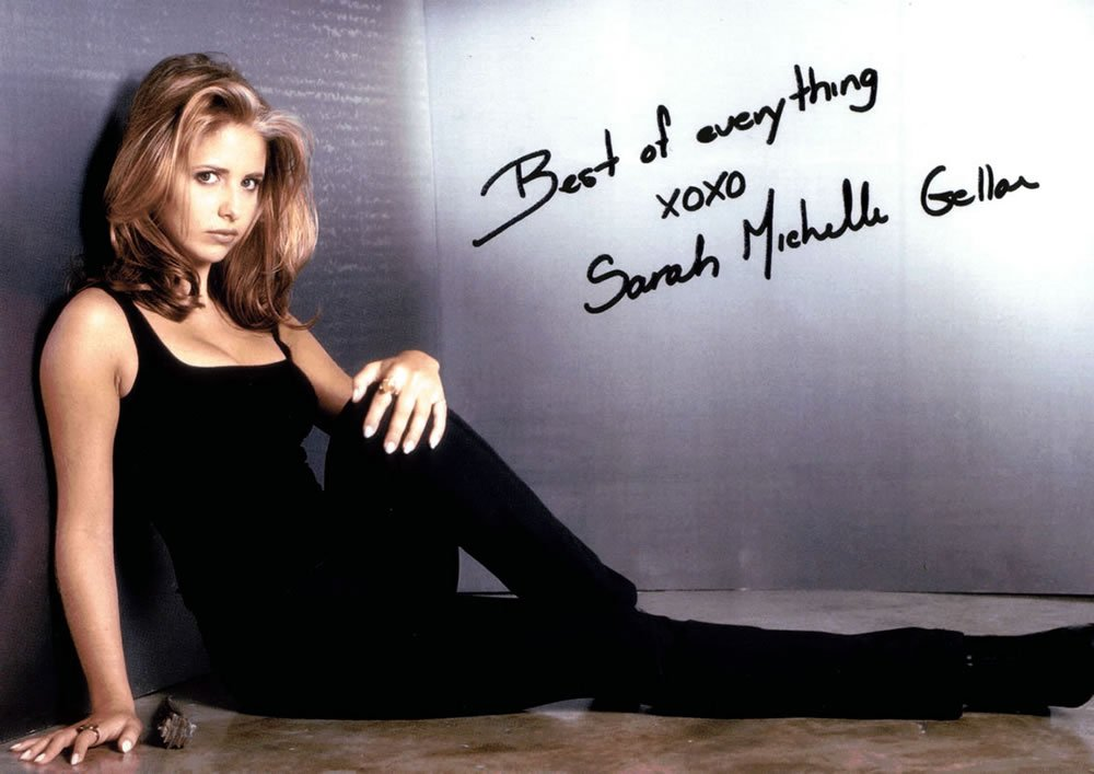Sarah Michelle Gellar A4 Autographed / Signed Photo Buffy The Vampire Slayer (Reprint 826)