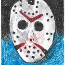 Jason Voorhees Hockey mask Drawing A4 Art Print + Digital Download  Fan Art By Kurt Wright