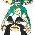 The Gremlins Villains Limited Edition Original A4 Art Print + Digital Download By Kurt Wright