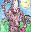 Vengeful Axe Murderer Limited Edition Original A4 Art Print + Digital Download By Kurt Wright