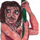 Tarzan Cartoon Pen Drawing A4 Art Print + Digital Download By Kurt Wright
