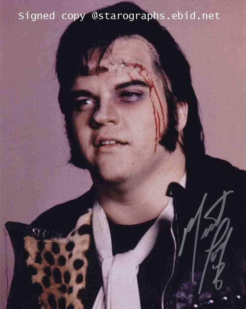 Meat Loaf The Rocky Horror Picture Show / Roadie / Black Dog 8 x 10 Autographed photo (Reprint 638)