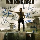 The Walked Dead Poster signed by cast (Reprint Great Gift Idea)