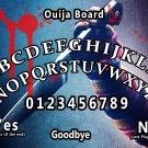 Child's Play Ouija Board Bizarre Magick A4 laminated sheet fortune Seance Halloween.