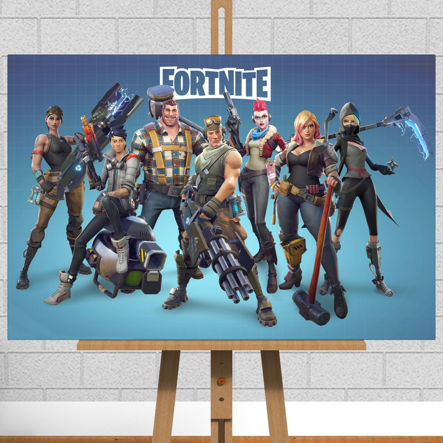 """Fortnite Games Framed Canvas Print / Picture - 30""""x20"""" (76cm x 51cm Approx)"""