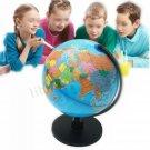 "13"" Rotating World Map Globes Table Decor Ocean Geographical Earth Desktop Globe"