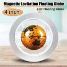 4'' Magnetic Levitation Earth Globe LED Lamp Self-Rotating Floating Globe Light