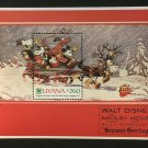 Mickey Mouse Christmas mnh souvenir sheet 1991 Guyana #2480
