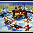 Donald Duck Huey Louie Dewey Christmas Souvenir Sheet 1984 Grenada
