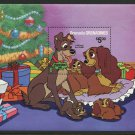 Lady and the Tramp Christmas Souvenir Sheet 1981 Grenada Grenadines