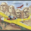 Mickey Mouse Mount Rushmore mnh souvenir sheet 1989 St. Vincent #1264