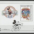 "Mickey Mouse 60th Anniversary Souvenir Sheet ""Mickey's Pal Pluto"" movie poster"