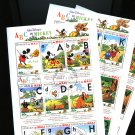 Mickey's ABCs set of 3 sheets of 9 stamps cto 1996 Mali #797-9