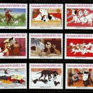 101 Dalmatians mnh set of 9 stamps 1988 Grenada Grenadines #988 puppies dogs