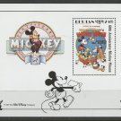 Mickey Mouse 60 years Mickey's Pal Pluto mnh Souvenir Sheet 1989 Bhutan #705