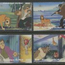 The Fox and the Hound Disney set of 4 mnh stamps 2010 Mali