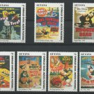 Donald Duck Movie Posters Disney 7 mnh stamps 1996 Guyana set 6