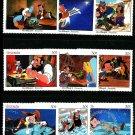 Pinocchio Disney set 9 mnh stamps Jiminy Cricket 1987 Grenada