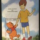 Winnie the Pooh Christopher Robin mnh Souvenir Sheet 1996 Ghana #1903