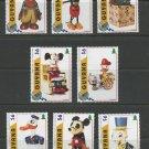 Disney Old Toys MNH Set of 8 Stamps 1996 Guyana #3096a-i