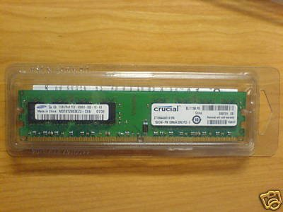 CRUCIAL 1GB 200-pin SODIMMs / DDR2 PC2-5300 memory modules