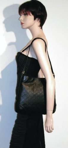 GUCCI Leather GG Guccissimma Shoulder Bag