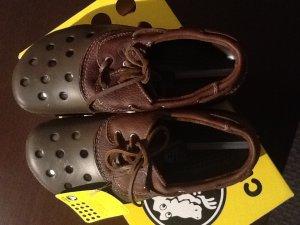 10661d254d3 *sold* Crocs Islander leather lace-up shoes m6/w8 (chocolate ...