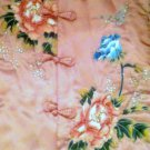 Gorgerous Asian Theme (Flowers) Pink Silk Long Vest