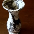 Solid Marble Stem Vase (Shades of Gray, Black & White)