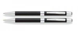 Cross Black Chrome Ballpoint Pen and Pencil set
