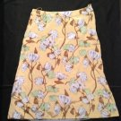 Authentic New PRADA Yellow Floral Silk Skirt (size 40/6)