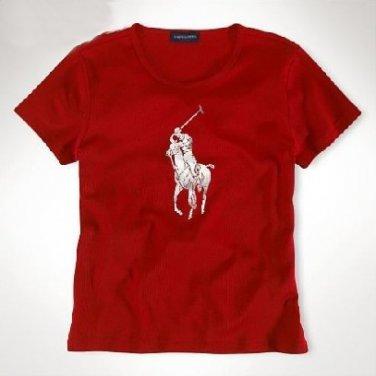 Ralph Lauren Big Pony Cotton Tee (Red. Girl L -12-14)