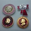 Lenin Soviet Russia Pin Badge, badges Lenin the leader of communism, vintage USSR
