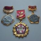 Medal badges, Of the Komsomol, for distinction in labour.
