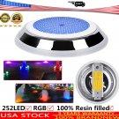 LED Swimming Pool Light RGB Stainless Resin Filled IP68 Waterproof Lamp Light US