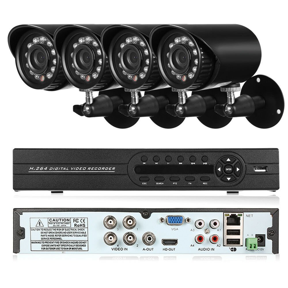 4 Channel CCTV Camera Complete Security System w/ 1TB DVR- NEW!!