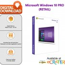 Microsoft Windows 10 (PRO) Professional: Retail - for 5 PC, Lifetime [Email Delivery]