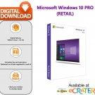 Microsoft Windows 10 Professional (PRO): Retail Edition [1 PC]