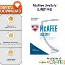 [Lifetime] McAfee LiveSafe 2020: AntiVirus, AntiRansomware & Internet Protection [1 PC]